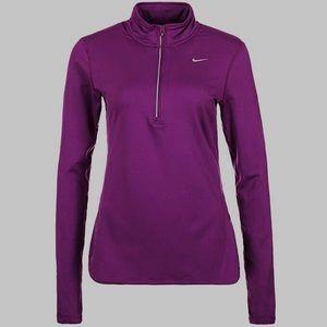Maroon Nike Half-zip Running Top